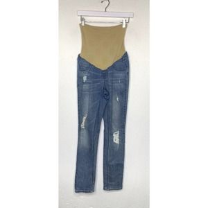 Jessica Simpson Maternity Jeans Full Panel Ripped